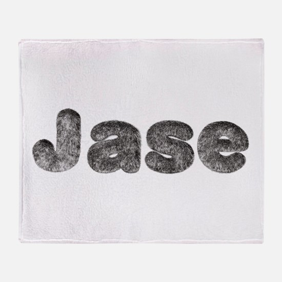 Jase Wolf Throw Blanket