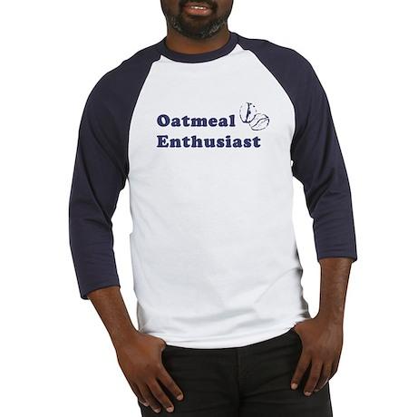 Oatmeal Enthusiast Baseball Jersey (Navy)