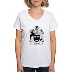 Tunstall Family Crest Women's V-Neck T-Shirt