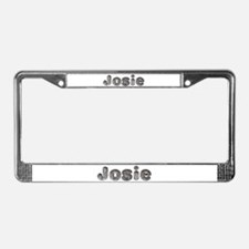 Josie Wolf License Plate Frame