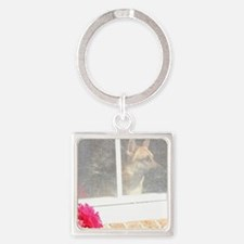 Where Are You Now? Square Keychain