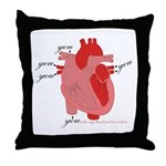 You Enter My Heart Throw Pillow