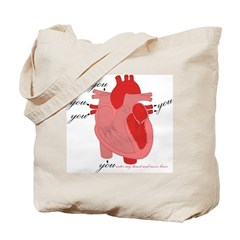 You Enter My Heart Tote Bag