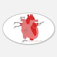 You Enter My Heart Oval Decal
