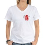You Enter My Heart Women's V-Neck T-Shirt