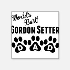 Worlds Best Gordon Setter Dad Sticker