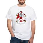 Tudor Family Crest White T-Shirt
