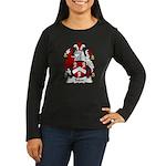 Tudor Family Crest Women's Long Sleeve Dark T-Shir