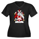 Tudor Family Crest Women's Plus Size V-Neck Dark T