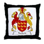 Tuckett Family Crest Throw Pillow