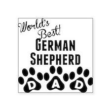 Worlds Best German Shepherd Dad Sticker