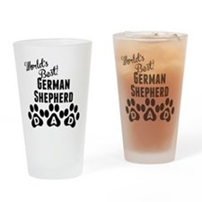 Worlds Best German Shepherd Dad Drinking Glass