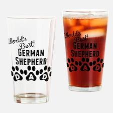Worlds Best German Shepherd Dad Drinking Glass