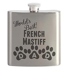 Worlds Best French Mastiff Dad Flask
