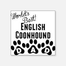 Worlds Best English Coonhound Dad Sticker