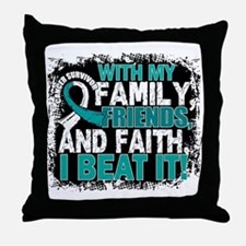 Cervical Cancer Survivor FamilyFriend Throw Pillow