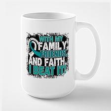 Cervical Cancer Survivor FamilyFriendsF Large Mug