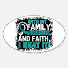 Cervical Cancer Survivor FamilyFrie Sticker (Oval)