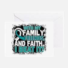 Cervical Cancer Survivor FamilyFrien Greeting Card