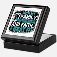 Cervical Cancer Survivor FamilyFriend Keepsake Box