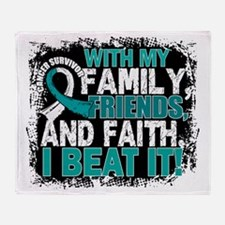 Cervical Cancer Survivor FamilyFrien Throw Blanket