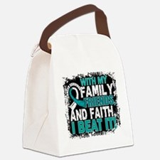 Cervical Cancer Survivor FamilyFr Canvas Lunch Bag