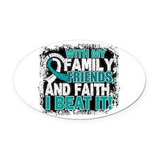 Cervical Cancer Survivor FamilyFri Oval Car Magnet