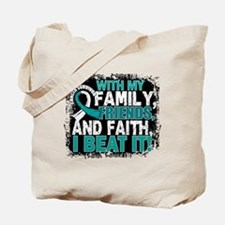 Cervical Cancer Survivor FamilyFriendsFai Tote Bag