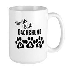 Worlds Best Dachshund Dad Mugs