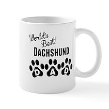 Worlds Best Dachshund Dad Mugs