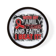 Blood Cancer Survivor FamilyFriendsFait Wall Clock