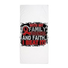 Blood Cancer Survivor FamilyFriendsFai Beach Towel