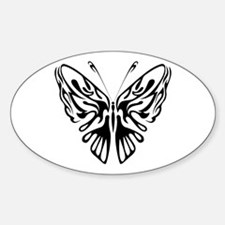 BUTTERFLY 3 Oval Decal