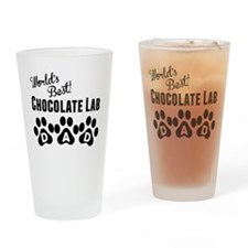 Worlds Best Chocolate Lab Dad Drinking Glass