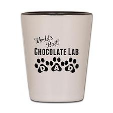 Worlds Best Chocolate Lab Dad Shot Glass