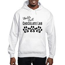Worlds Best Chocolate Lab Dad Hoodie