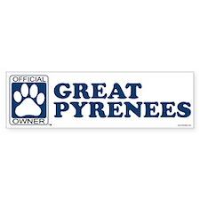 GREAT PYRENEES Bumper Bumper Sticker