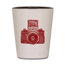 Vintage Camera - Ruby Red Shot Glass