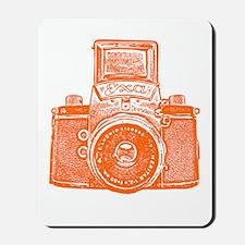 Vintage Camera - Orange Mousepad
