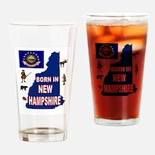 NEW HAMPSHIRE BORN Drinking Glass