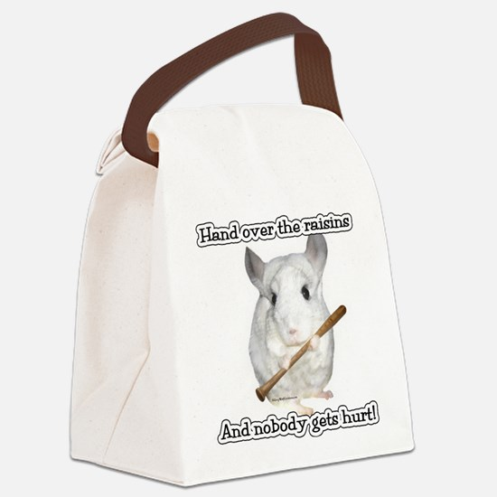 ChinRaisons2dark.png Canvas Lunch Bag