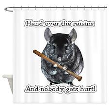 ChinRaisonsdark1.png Shower Curtain