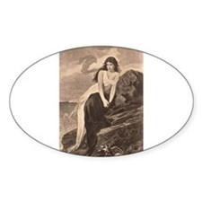 Lady by the Sea Bumper Stickers