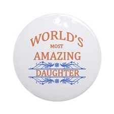 Daughter Round Ornament