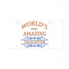 Daughter Aluminum License Plate