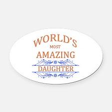 Daughter Oval Car Magnet