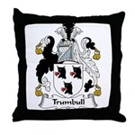 Trumbull Family Crest Throw Pillow