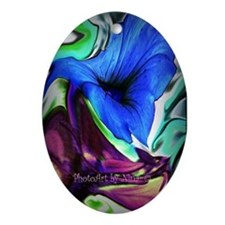 Floral Abstract II Ornament (Oval)