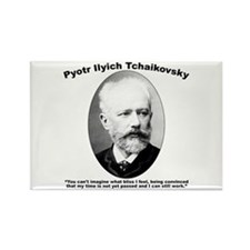Tchaikovsky: Work Rectangle Magnet