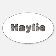 Haylie Wolf Oval Decal